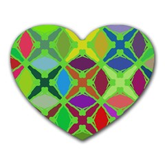 Abstract Pattern Background Design Heart Mousepads