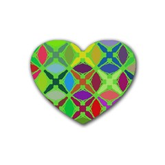 Abstract Pattern Background Design Heart Coaster (4 Pack)