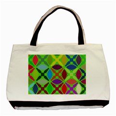 Abstract Pattern Background Design Basic Tote Bag (two Sides)