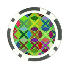 Abstract Pattern Background Design Poker Chip Card Guard