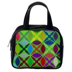 Abstract Pattern Background Design Classic Handbags (one Side)