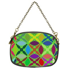 Abstract Pattern Background Design Chain Purses (one Side)