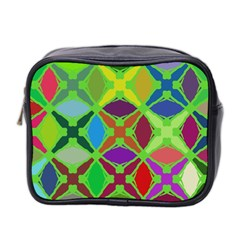 Abstract Pattern Background Design Mini Toiletries Bag 2 Side