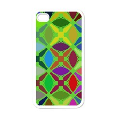 Abstract Pattern Background Design Apple Iphone 4 Case (white)