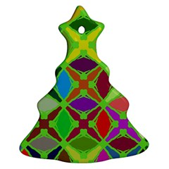Abstract Pattern Background Design Christmas Tree Ornament (Two Sides)