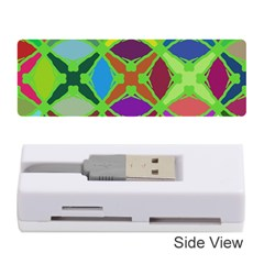 Abstract Pattern Background Design Memory Card Reader (Stick)