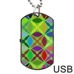 Abstract Pattern Background Design Dog Tag Usb Flash (two Sides)