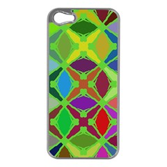 Abstract Pattern Background Design Apple Iphone 5 Case (silver)