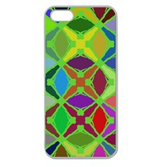 Abstract Pattern Background Design Apple Seamless Iphone 5 Case (clear)