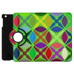 Abstract Pattern Background Design Apple Ipad Mini Flip 360 Case