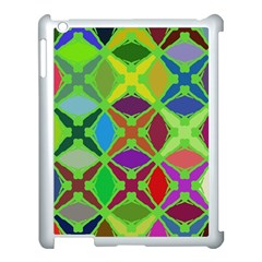 Abstract Pattern Background Design Apple iPad 3/4 Case (White)