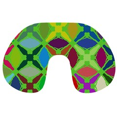 Abstract Pattern Background Design Travel Neck Pillows