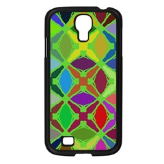 Abstract Pattern Background Design Samsung Galaxy S4 I9500/ I9505 Case (Black)