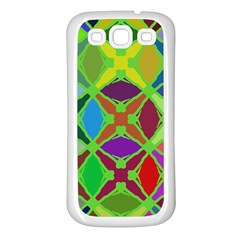 Abstract Pattern Background Design Samsung Galaxy S3 Back Case (white)