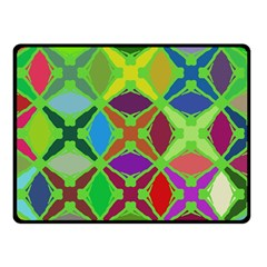 Abstract Pattern Background Design Double Sided Fleece Blanket (small)
