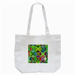 Abstract Pattern Background Design Tote Bag (white)