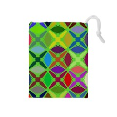 Abstract Pattern Background Design Drawstring Pouches (medium)