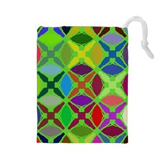 Abstract Pattern Background Design Drawstring Pouches (Large)