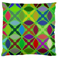 Abstract Pattern Background Design Large Flano Cushion Case (one Side)