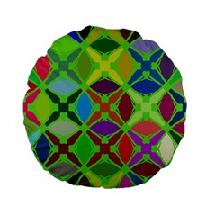 Abstract Pattern Background Design Standard 15  Premium Flano Round Cushions