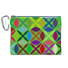 Abstract Pattern Background Design Canvas Cosmetic Bag (xl)