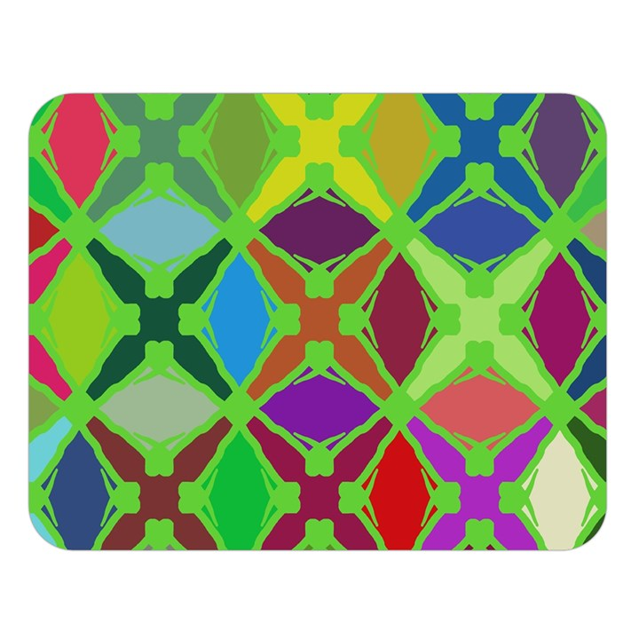 Abstract Pattern Background Design Double Sided Flano Blanket (Large)