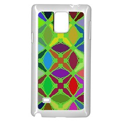 Abstract Pattern Background Design Samsung Galaxy Note 4 Case (white)