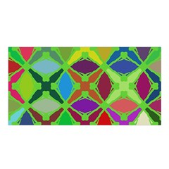 Abstract Pattern Background Design Satin Shawl