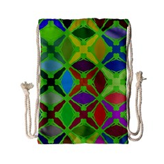 Abstract Pattern Background Design Drawstring Bag (small)