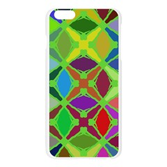 Abstract Pattern Background Design Apple Seamless iPhone 6 Plus/6S Plus Case (Transparent)