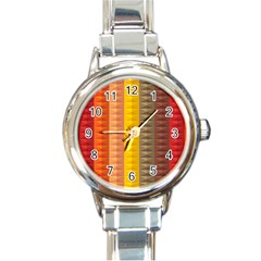 Abstract Pattern Background Round Italian Charm Watch