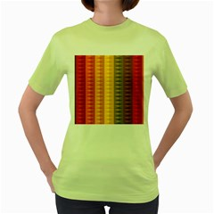 Abstract Pattern Background Women s Green T-Shirt