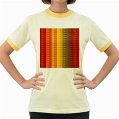 Abstract Pattern Background Women s Fitted Ringer T-Shirts