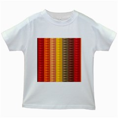 Abstract Pattern Background Kids White T Shirts
