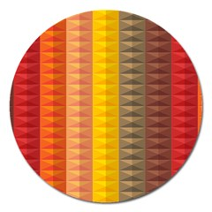 Abstract Pattern Background Magnet 5  (Round)
