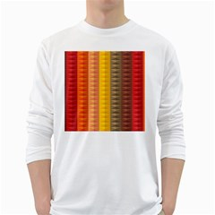 Abstract Pattern Background White Long Sleeve T Shirts