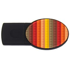 Abstract Pattern Background Usb Flash Drive Oval (4 Gb)
