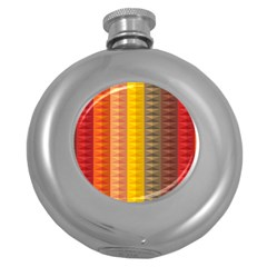Abstract Pattern Background Round Hip Flask (5 Oz)