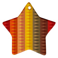 Abstract Pattern Background Star Ornament (Two Sides)