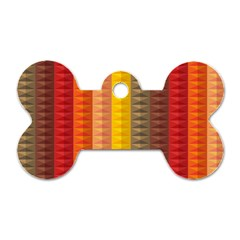 Abstract Pattern Background Dog Tag Bone (one Side)