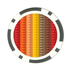 Abstract Pattern Background Poker Chip Card Guard