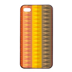 Abstract Pattern Background Apple iPhone 4/4s Seamless Case (Black)