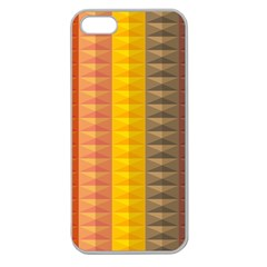 Abstract Pattern Background Apple Seamless iPhone 5 Case (Clear)