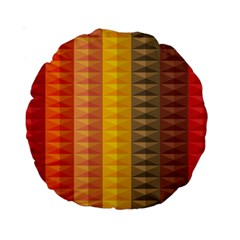 Abstract Pattern Background Standard 15  Premium Round Cushions
