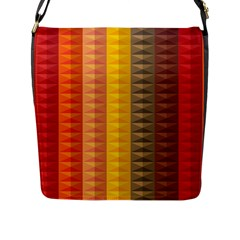 Abstract Pattern Background Flap Messenger Bag (l)