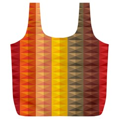 Abstract Pattern Background Full Print Recycle Bags (L)