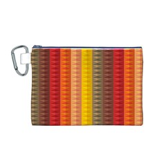 Abstract Pattern Background Canvas Cosmetic Bag (m)