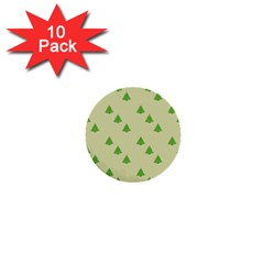 Christmas Wrapping Paper Pattern 1  Mini Buttons (10 Pack)