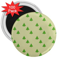 Christmas Wrapping Paper Pattern 3  Magnets (100 Pack)
