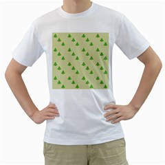 Christmas Wrapping Paper Pattern Men s T Shirt (white) (two Sided)